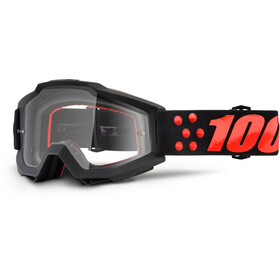 100% Accuri goggles Anti Fog Clear Lens / zwart